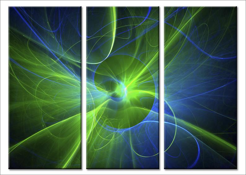 Quadri astratti Fluorescent stampe immagini moderne