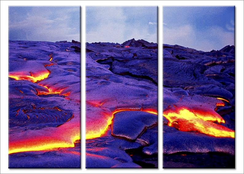 Quadri moderni Eruption stampe su tela canvas