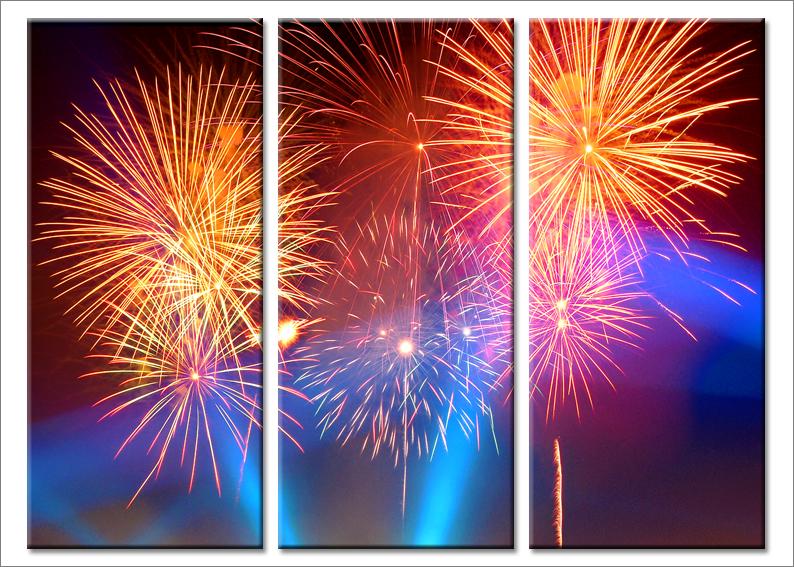 Quadri moderni Fireworks stampe su tela canvas